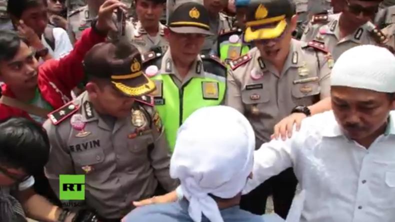 Indonesien: Ausschreitungen zwischen Demonstranten und Polizisten in Jakarta