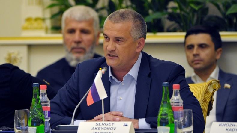 Krim-Oberhaupt beschuldigt Ukraine für eskalierende Spannungen und Terrorismus an Krim-Grenze