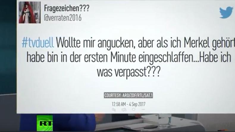 """Reaktionen in den Sozialen Medien: """"Schulz und Merkel simulieren TV-Duell"""""""