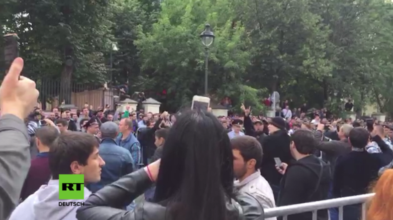 """""""Stoppt das Morden!"""" - Hunderte protestieren in Moskau gegen Myanmars Vorgehen gegen Muslime"""