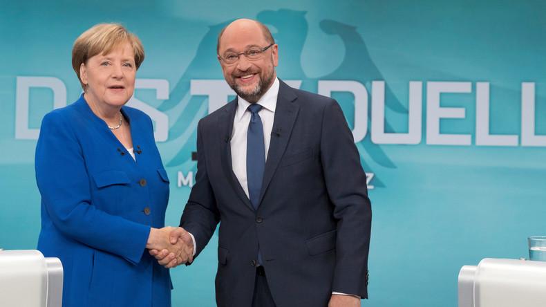Duell mit Wattebäuschchen: Merkel und Schulz wollten Koalitions-Neuauflage nicht erschweren