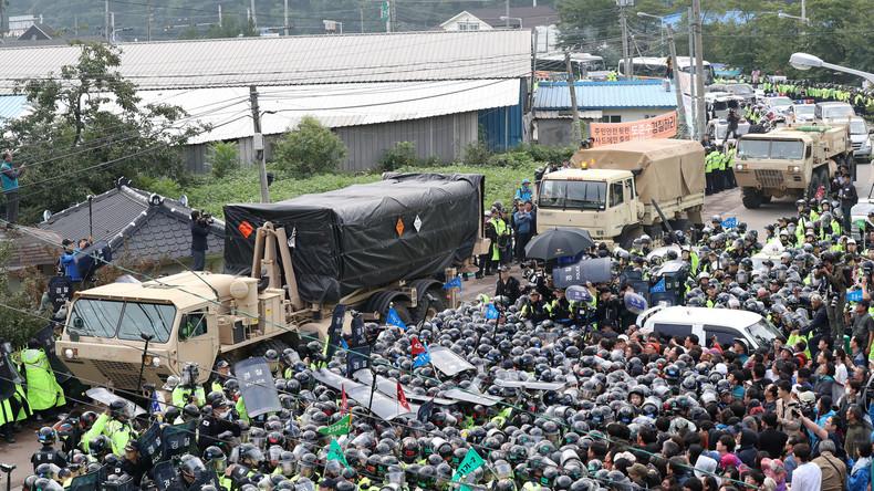 Kundgebung gegen US-Abwehrraketen in Südkorea mündet in Proteste mit mehreren Verletzten