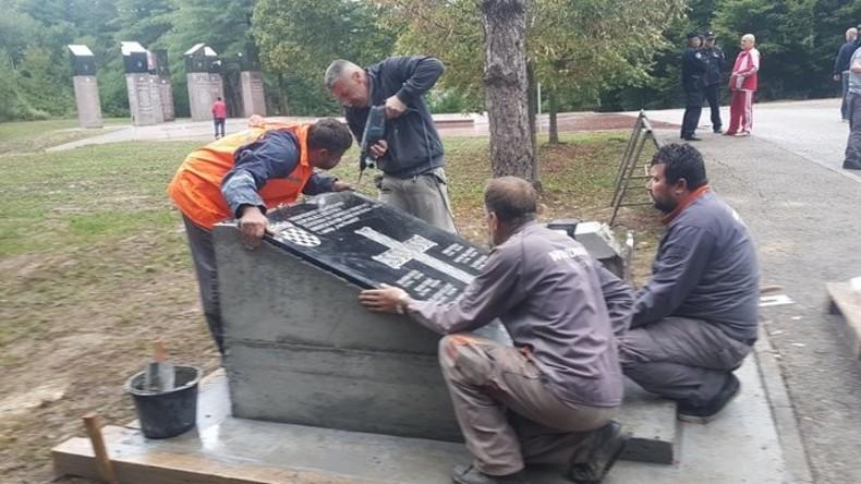 Gedenktafel mit faschistischem Gruß in Kroatien entfernt [VIDEO]