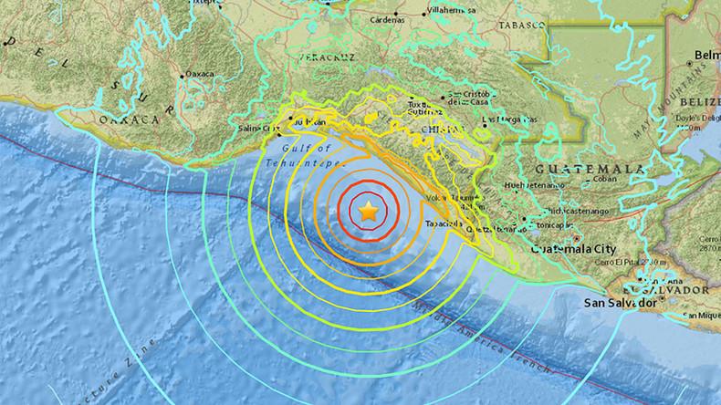 Tsunamiwarnung für acht Länder nach Erdbeben der Stärke 8,0 vor der Südküste Mexikos