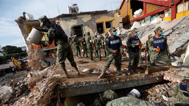 Rekord-Erdbeben in Mexiko fordert mehr als 60 Menschenleben - Regierung ordnet drei Tage Trauer an