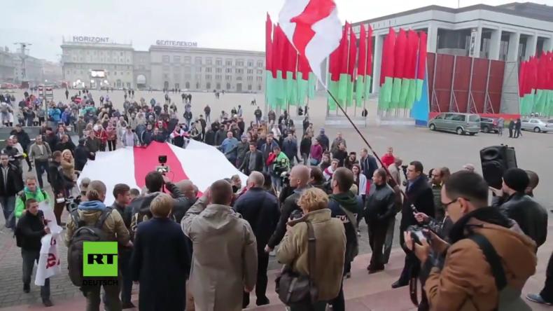 Weißrussland: Hunderte protestieren in Minsk gegen russisch-weißrussische Manöver