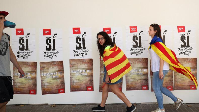 LIVE: Großdemonstration für die Unabhängigkeit Kataloniens in Barcelona