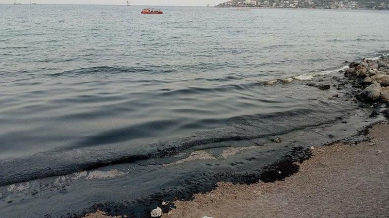 Ölteppich an griechischen Stränden - Tanker mit 2.200 Tonnen Schweröl untergegangen [FOTOS]