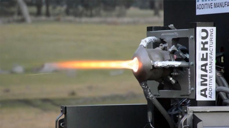 Erstes Raketentriebwerk aus 3D-Drucker erfolgreich getestet