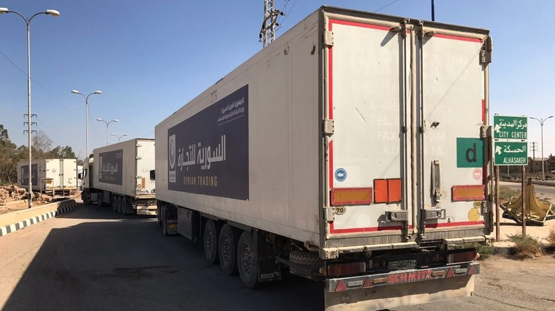 Russische Armeeangehörige liefern gut zehn Tonnen Hilfsgüter nach Deir ez-Zor