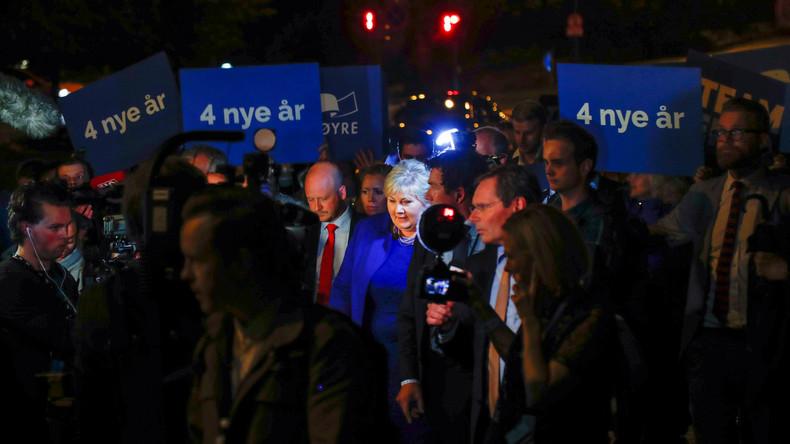 """Wahlen in Norwegen: Die """"glücklichsten Menschen"""" haben ihre Mitte-Rechts-Regierung bestätigt"""