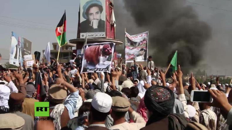 """Afghanen protestieren gegen US-Präsenz: """"Wir sind bereit für den antiamerikanischen Dschihad"""""""