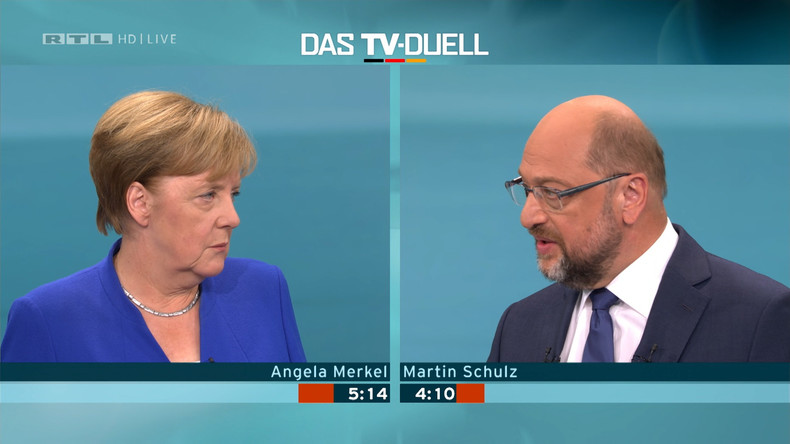 Martin Schulz fordert Angela Merkel zum zweiten TV-Duell heraus