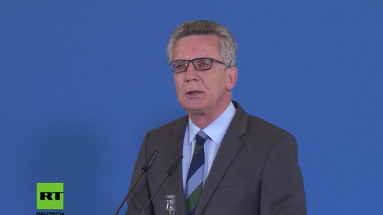 """Innenminister de Mazière: """"Wir schieben Gefährder und Straftäter nach Afghanistan ab"""""""