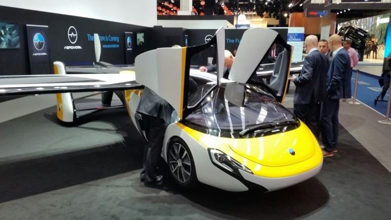 Autoflugzeug für 1,5 Millionen Euro: Fliegender Wagen in Frankfurt präsentiert [VIDEO]