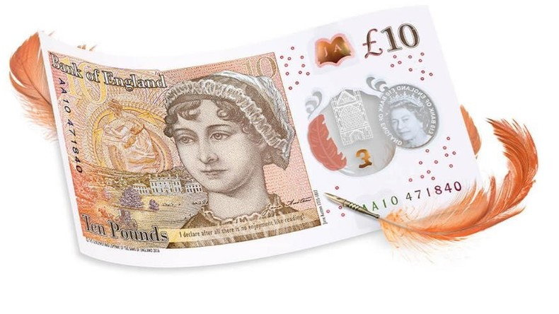 """Großbritannien ehrt die Autorin von """"Stolz und Vorurteil"""" mit einer Zehn-Pfund-Note"""