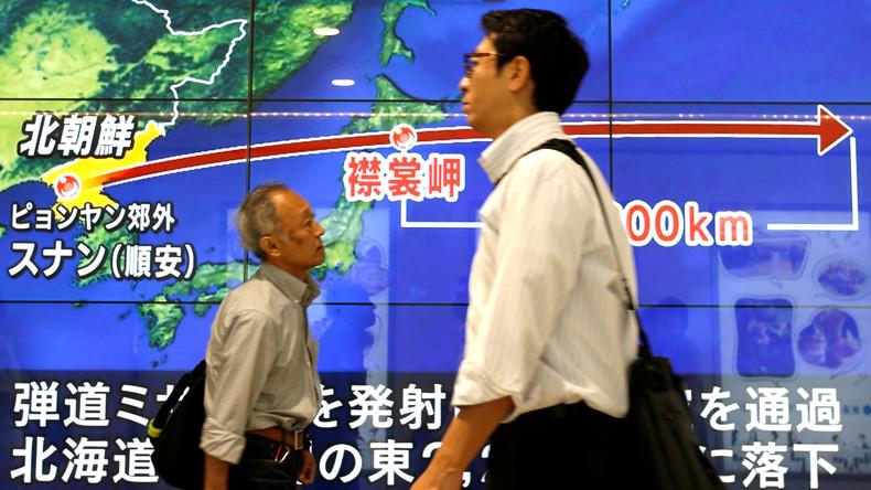 Nordkorea feuert weitere Rakete über Japan hinweg in den Pazifik