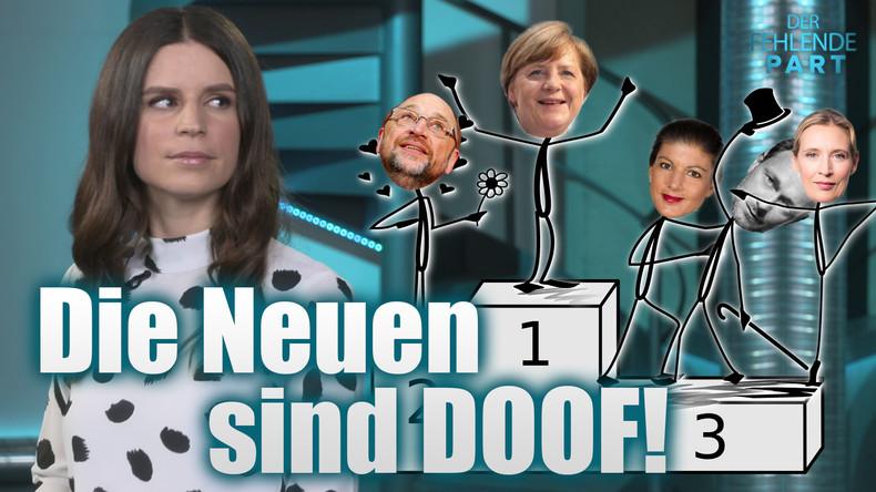 Die Kanzlerkrone und die (doofen) Neuen im Bundestag