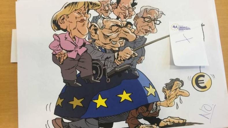 Kein Sinn für Humor: Brüssel verbietet Ausstellung von Karikaturen der EU-Chefs