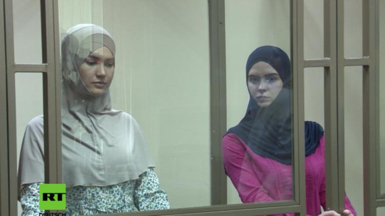 """Russland: """"Terroranschlag mit Sprengstoffgürteln"""" - Zwei IS-Frauen zu langen Haftstrafen verurteilt"""