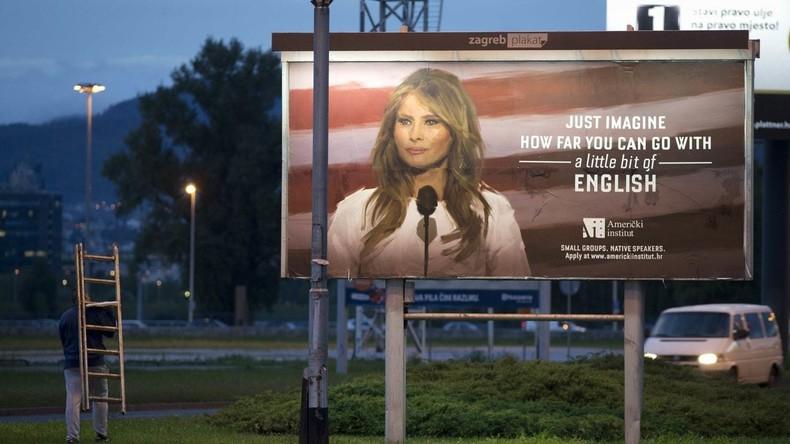 Durch Fremdsprachenunterricht zu den Sternen: Kroatische Sprachschule wirbt mit Melania Trump