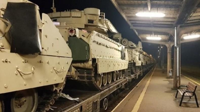 Zehn US-Panzer bei Eisenbahn-Transport in Polen beschädigt