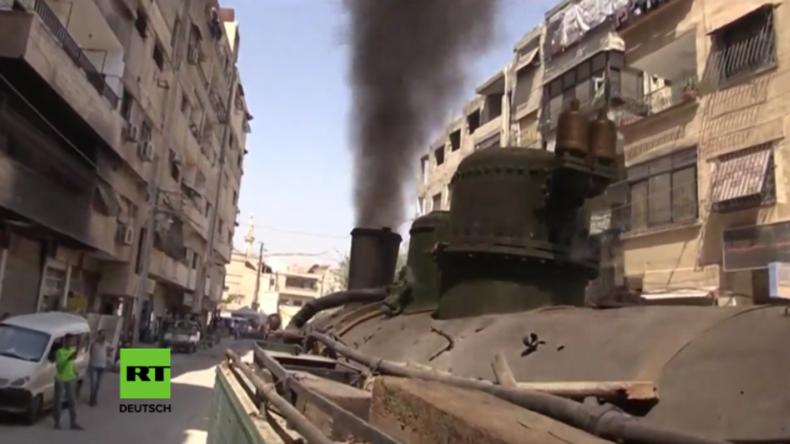 Syrien: Das normale Leben kehrt zurück - Nach fünf Jahren fährt Dampfeisenbahn wieder durch Damaskus