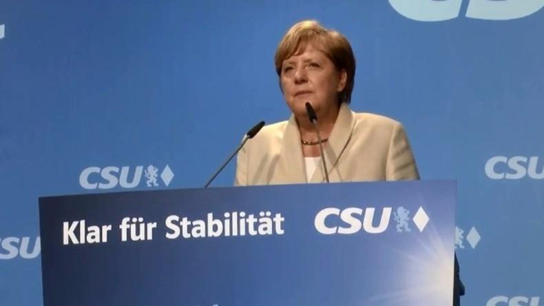 Live: Merkel hält Wahlkampfrede in Hamburg im Vorfeld der Bundestagswahlen am Sonntag