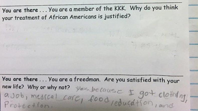 """""""Stell dir vor, dass du Ku-Klux-Klan-Mitglied bist"""": Umstrittene Schulaufgabe in USA"""
