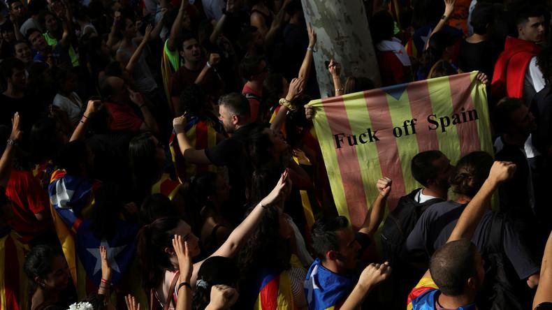 LIVE: Proteste in Barcelona gegen Repressionen im Vorfeld des Unabhängigkeitsreferendums