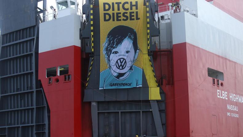 Greenpeace verlangt Rücktransport von VW-Dieselfahrzeugen nach Deutschland