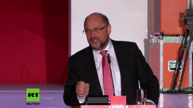 """Schulz: """"Leute, denkt an den Brexit und Trump - Ihr müsst am Sonntag wählen gehen"""""""