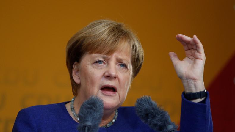 Live: Merkel hält unter Buh-Rufen und Pfiffen Wahlkampfrede in Heppenheim