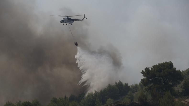 Trockenheit und starke Winde verursachen neue Brände in Griechenland