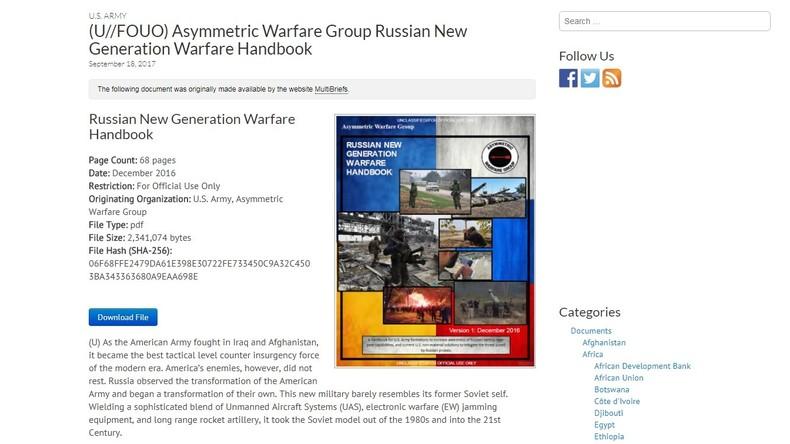 US-Armee veröffentlicht Handbuch für Kriegsführung gegen Russland