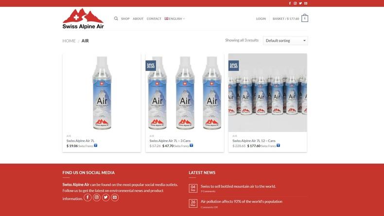 Geld aus der Luft: Schweizer Firma exportiert Alpenluft in Sprühdosen