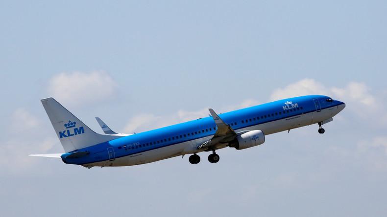 Passagiermaschine verliert über Japan Stück von Rumpfverkleidung