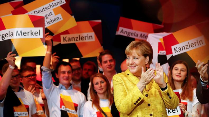 Live aus CDU-Parteizentrale in Berlin: Reaktionen, Merkel-Ansprache und Wahlparty
