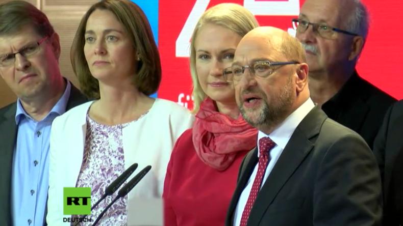 """SPD-Kanzlerkandidat Schulz: """"Ein schwerer, bitterer Tag - Wir haben verloren"""""""