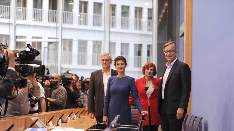 """LIVE: Spitze der Partei """"Die Linke"""" gibt gemeinsame Pressekonferenz zu Wahlergebnissen"""