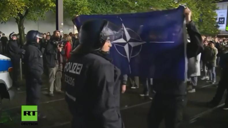 """Wie ein """"NATO-Troll"""" unsere Live-Übertragung des Anti-AfD-Protests in Berlin bereicherte"""