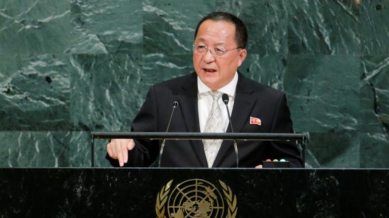 Nordkoreanischer Außenminister: Trump hat Nordkorea den Krieg erklärt