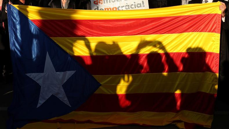 LIVE: Unterstützer des Unabhängigkeitsreferendums in Katalonien protestieren in Barcelona