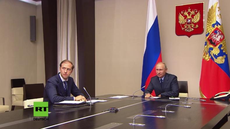 """Moskau: Wladimir Putin schaut bei """"historischer"""" Zerstörung letzter russischer Chemiewaffen zu"""