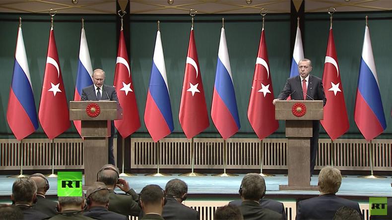 Treffen in Ankara: Putin lobt gemeinsame Erfolge mit der Türkei für Frieden in Syrien