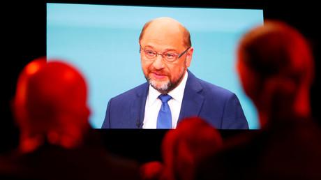 Martin Schulz beim TV-Duell, 3. September 2017