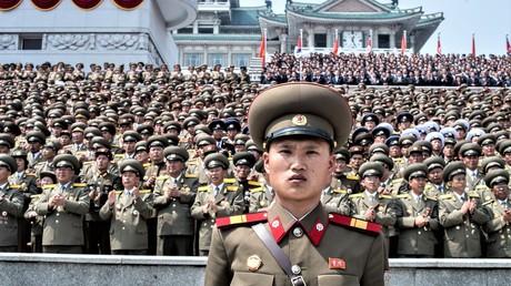 Feierlichkeiten zum 105. Geburtstag des Staatsgründers Kim II Sung am 14. April 2017.