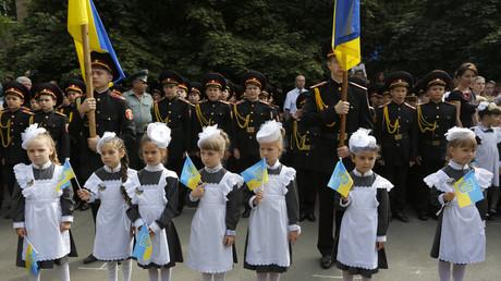 Ukrainisierungspolitik: Werchowna Rada verbietet russische Sprache in Schulen ab 2020 (Symbolbild)