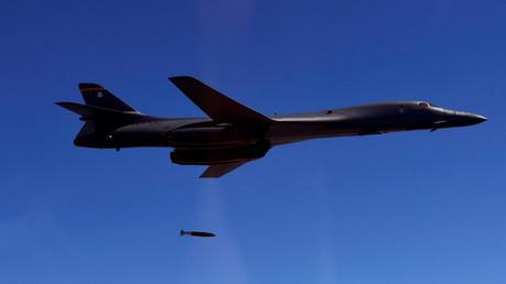 Eine B-1B der US-Luftwaffe während eines gemeinsamen Manövers mit Südkorea