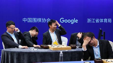 Go-Spieler in der Provinz Zhejiang, China, 26. Mai 2017.